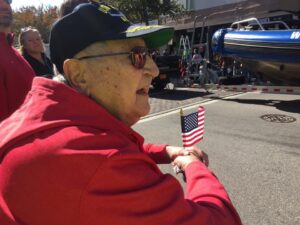 World War II veteran at parade.